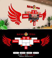 翅膀党建风采党员照片墙文化墙