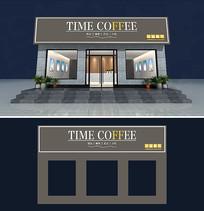 高端网红饮品店奶茶店门头设计