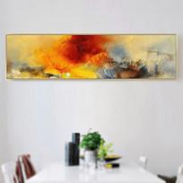 高清横幅床头抽象油画壁画