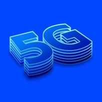 蓝色5G立体字设计