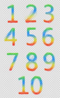 数字倒计时素材设计