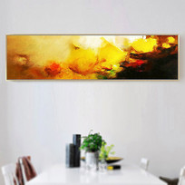 现代横幅高清抽象油画