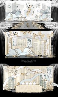 新中式唯美大气婚礼舞台效果图