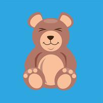 原创元素手绘六一儿童节小熊