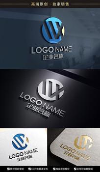 WX字母标志XW标志设计