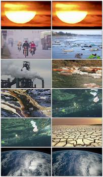 地球环境污染破坏视频素材