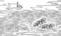 海参包装插画