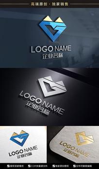 金山MG字母标志GM标志设计