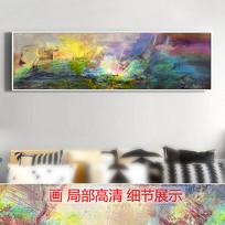 漂亮的手绘抽象油画高清图