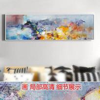 山水风景意境抽象油画