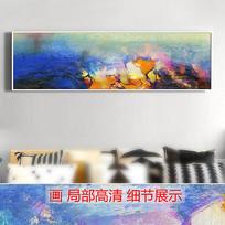 现代横幅抽象油画酒店装饰画