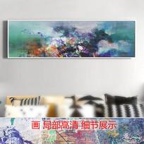 现代简约风格横幅抽象油画