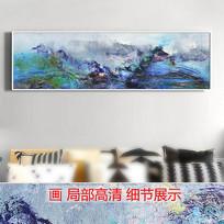 写意山水抽象油画意境装饰画