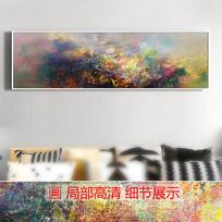 意境抽象油画山水风景画