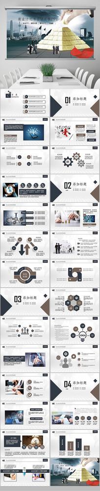 商业策划创业融资计划书PPT