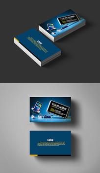 5G通讯行业手机名片设计