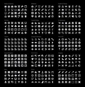 扁平化简约icon矢量图标 PSD