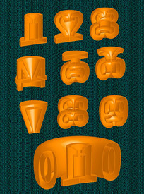 创意立体字1-10数字素材