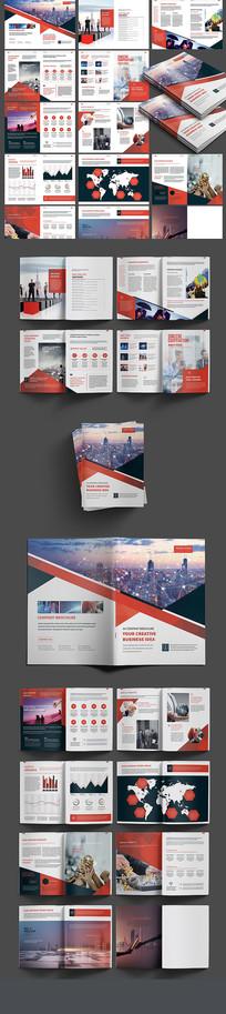 大气红色商务画册设计