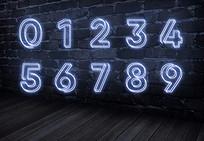 发光数字ps字体设计