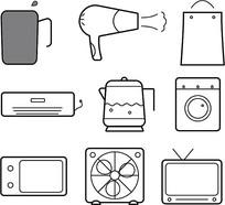 家用电器线条元素