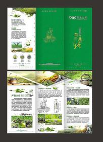 绿色茶叶三折页
