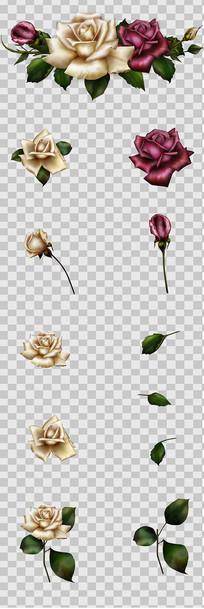 玫瑰花元素