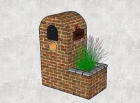 欧式石砌式信箱 skp
