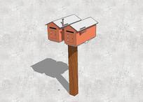 信箱模型 skp