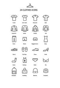 衣服服装服饰鞋包icon图标