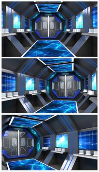 原创黑色科技太空舱模型 max