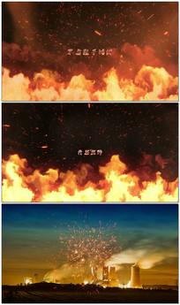 震撼粒子火焰燃烧文字介绍AE模板