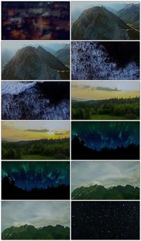 壮观的大自然景观实拍视频素材