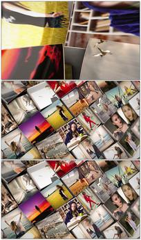 3d照片照片墙展示视频模板