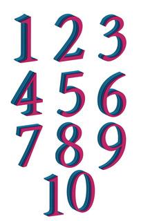 创意1-10字体元素