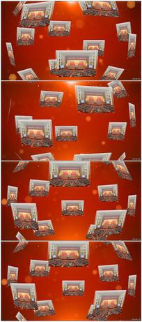 党政立体球面照片墙AE模板