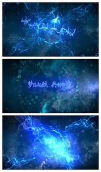 电影感科技烟雾效果logo演绎视频