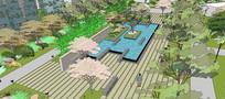 公园水景SU模型