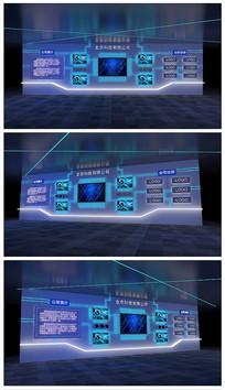 科技线路板展示墙效果图