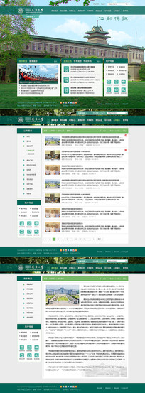 农业大学门户网站全套模板