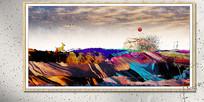 水墨壁画欧式风格装饰画
