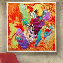 水墨抽象画欧式油画