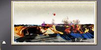 水墨工艺画抽象画模板
