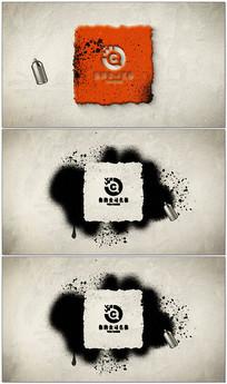 涂鸦喷漆图文展示视频模板
