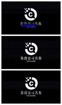 信号干扰logo片头视频模板