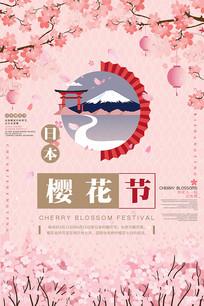 樱花节日本旅游海报模板