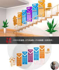楼梯企业文化墙设计