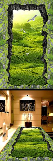 森林小路浴室厨房3D地板
