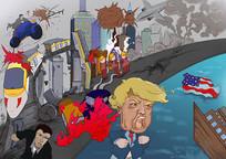 特朗普商业插画