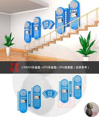 微粒体楼梯文化墙设计